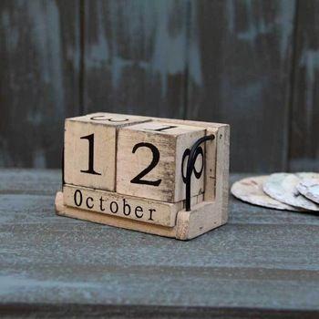 Aibei доставка-оптово-вуд календарь Zakka изделия декоративные вручную небольшой письменный стол урожай календарь бытовые бесплатная доставка журнала ремесел