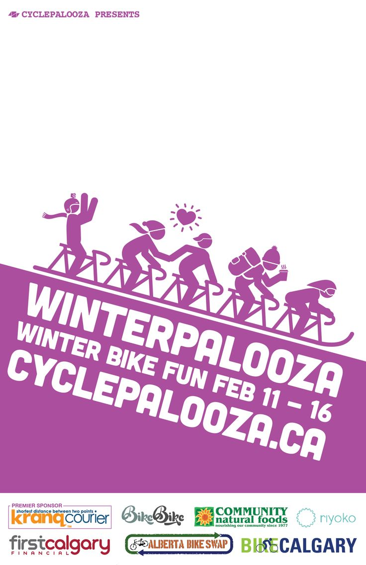 Winterpalooza is coming! Come ride with us! Join a ride and/or host a ride! #yycbike @cyclepalooza