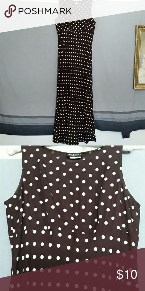 Polka-dot dress Tea-length brown with cream polka dots Be smart Dresses