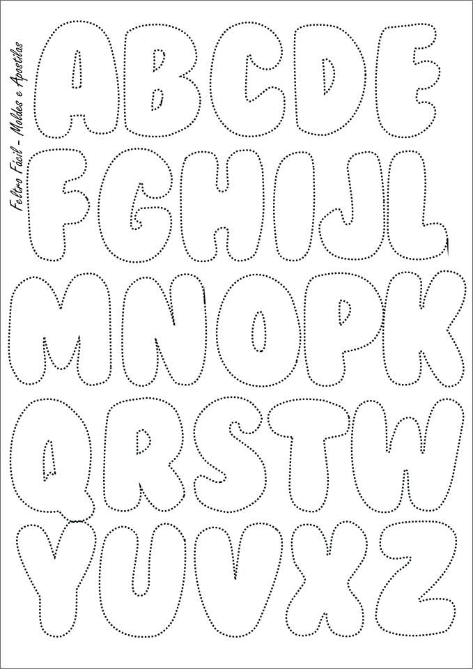 bubble letter template free printable letters and numbers a z for