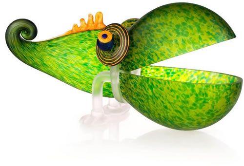 Chameleon Bowl, Large/Green- by Borowski