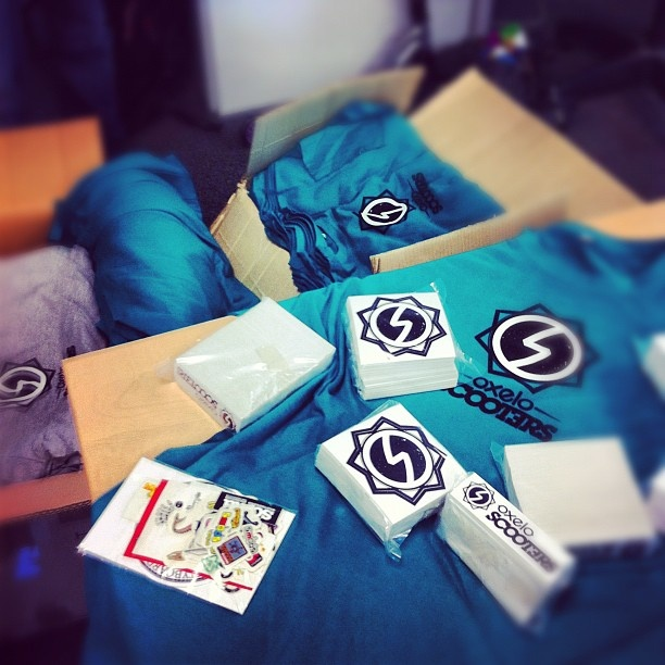 Tshirts and stickers for Nantes contest #Oxelo #Scooters #OxeloScooters