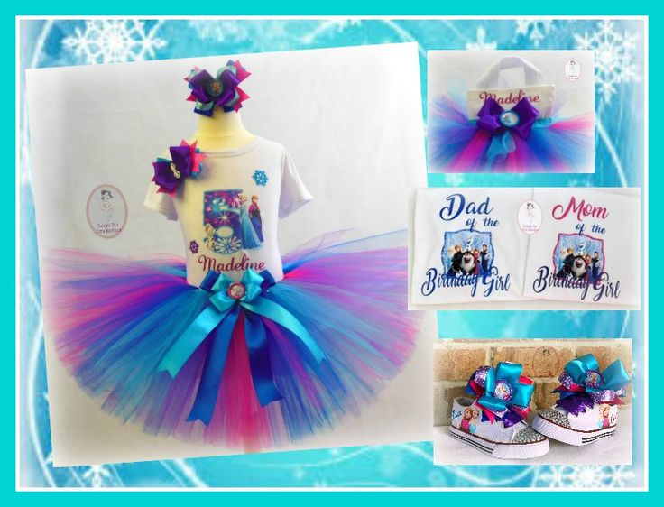 Frozen Elsa and Anna Tutu Outfit