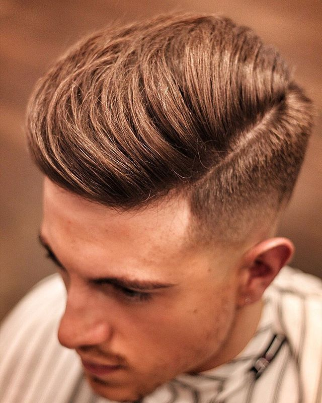 Side Quiff , foil shaver faded sides on our good friend @cal_newsome Styled…