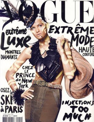 Vogue Paris, November 2009. Model: Isabeli Fontana. Stylist: Carine Roitfeld, Photographer: David Sims.: November 2009, Isabeli Fontana, Vogue Fashion, David Sims, Vogue Paris, Keith Haring, Magazines Covers, Design, Vogue Covers