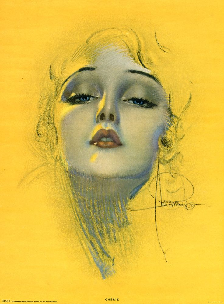 Rolf Armstrong 1929 Large Pin Up Poster Sized Print Cherie Art Deco Flapper RARE |$700