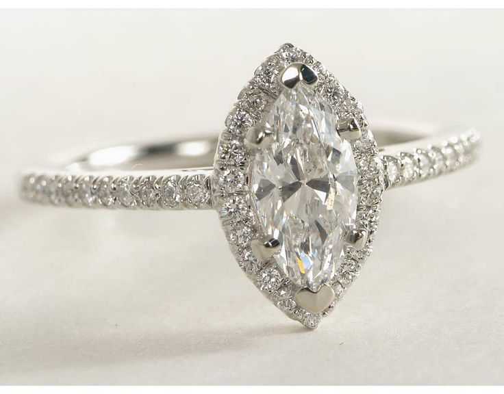 1 Carat Diamond Marquise Cut Halo Diamond Engagement Ring | Blue Nile Engagement and Wedding Rings