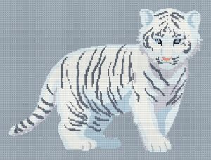 Free Cross Stitch Chart - White Tiger Cub