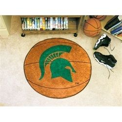 Michigan State University Spartans Basketball Floor Rug Mat