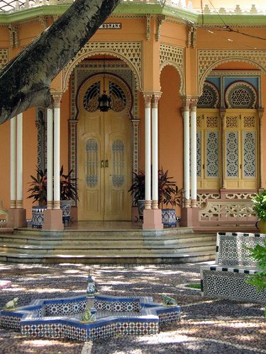 Arabic architecture on Manga Island, Cartagena Colombia