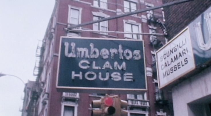 Crazy Joe Gallo's murder location Umberto's Clam House in Little Italy, Manhattan - April 7, 1972
