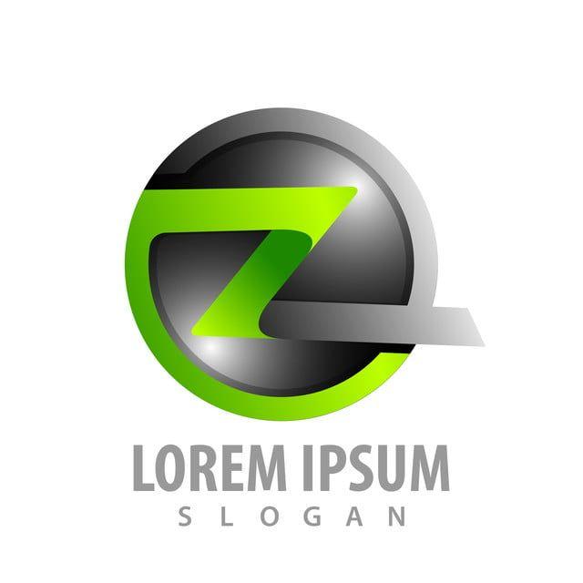 دائرة حرف زد الشريط الشعار رمز مفهوم تصميم الجرافيك Logo Concept Ribbon Logo Concept Design