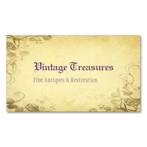 Vintage Antiek Bloemen nam toe Visitekaartjes