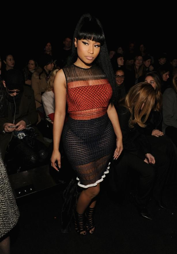 Best Dressed of the Week: Nicki Minaj, Taylor Swift & More | Nicki Minaji in a sheer color block dress by Alexander Wang