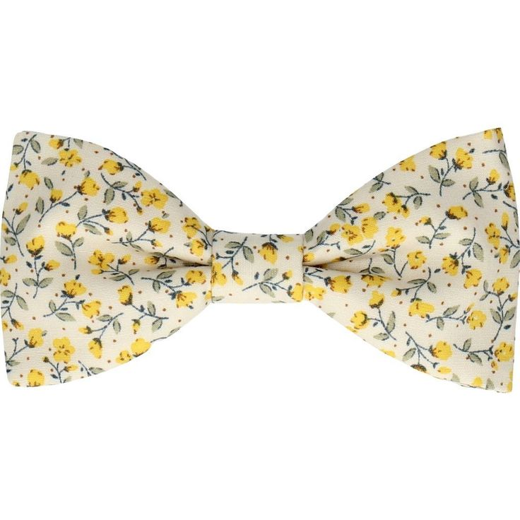 Mrs Bow Tie Ashington Ready-Tied Bow Tie | Yellow