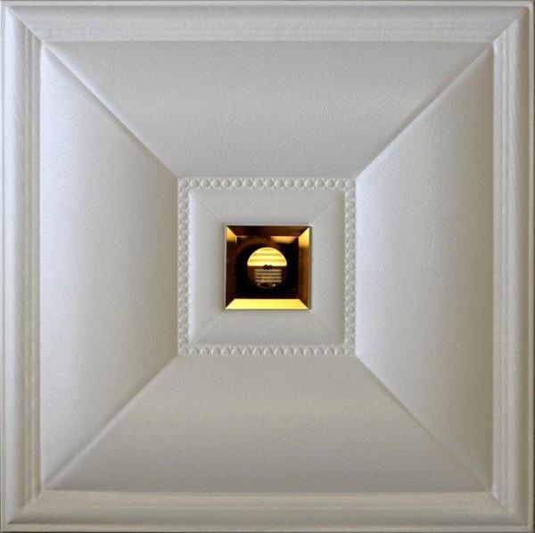 DCT LRT 11 искусственной кожи потолочные и настенные плитки - белый со стеклянным окошком