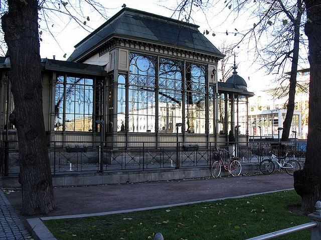 Beautiful Ravintola Kappeli on the Esplanade in Helsinki.