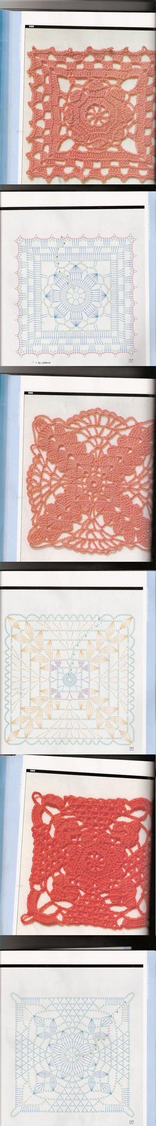pretty crochet squares
