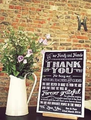 Vintage Wedding Ideas: Old Time Lettering On The Chalkboard Signs And Use  An Old Tin