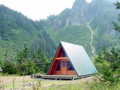 US Forest Service cabin, Swan Lake, Alaska.  Who wants to take a trip?