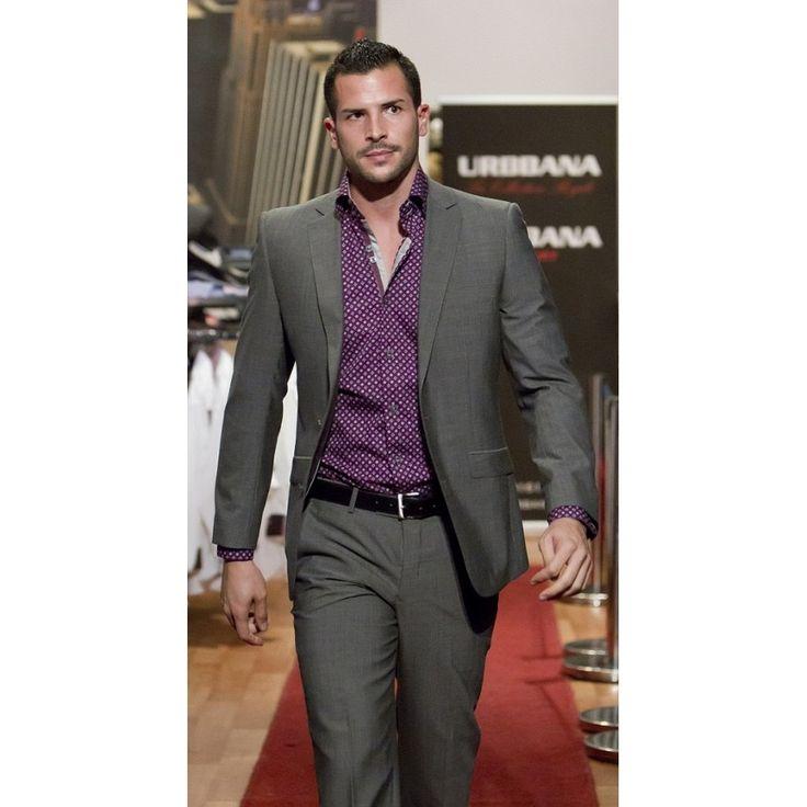 Purple Shirt Grey Suit | My Dress Tip