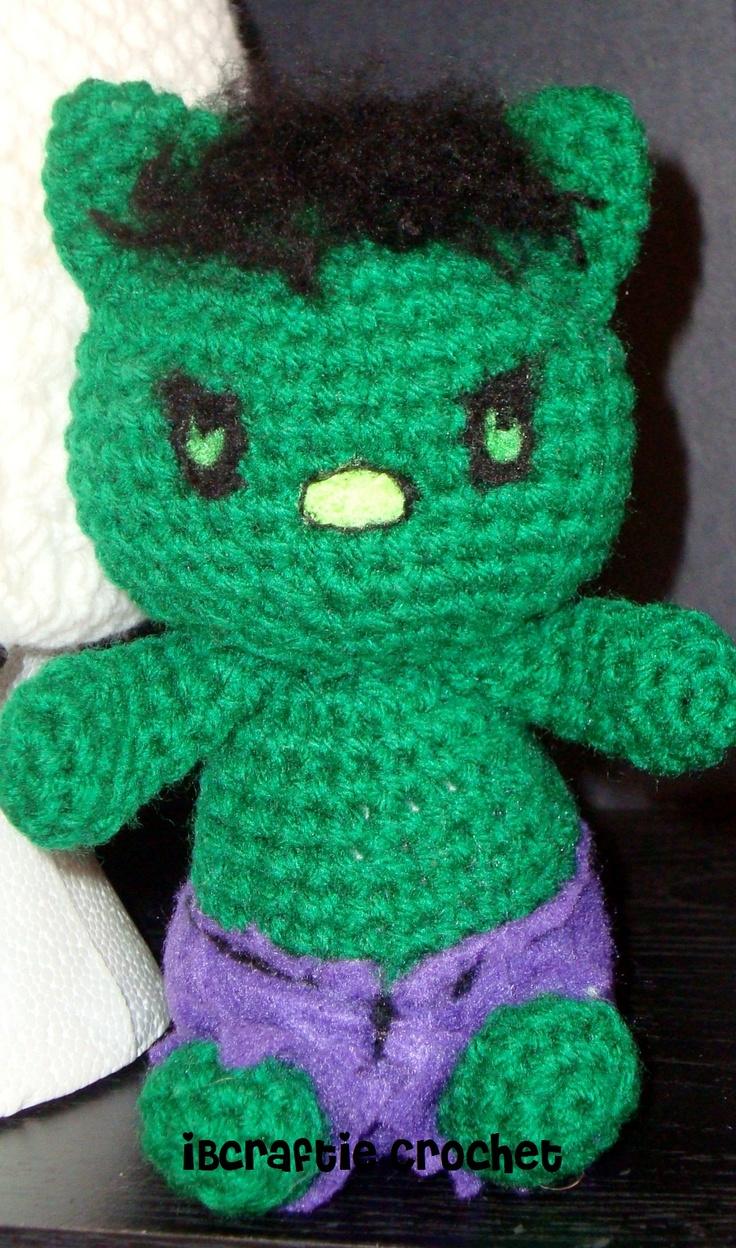 Crochet Hulk Kittie iBcraftie Crochet Custom Design
