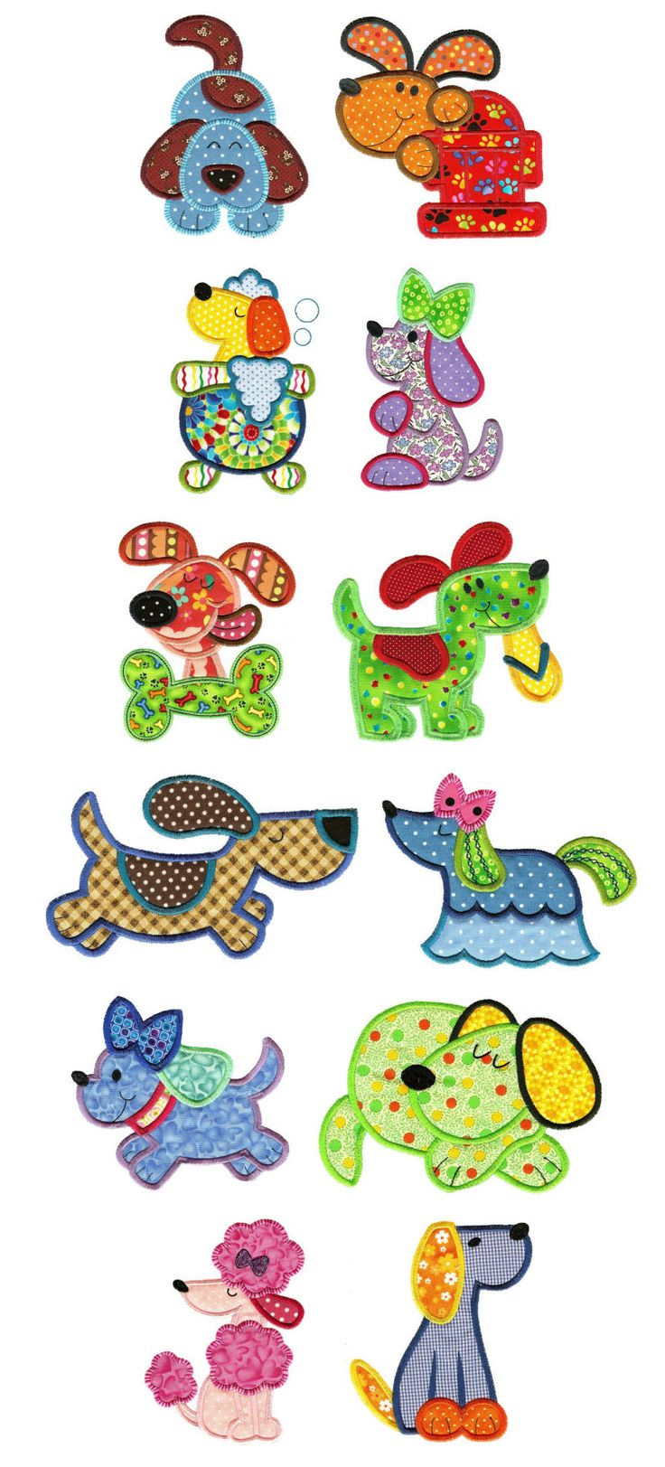 Embroidery | Free Machine Embroidery Designs | Crazy Dogs Applique