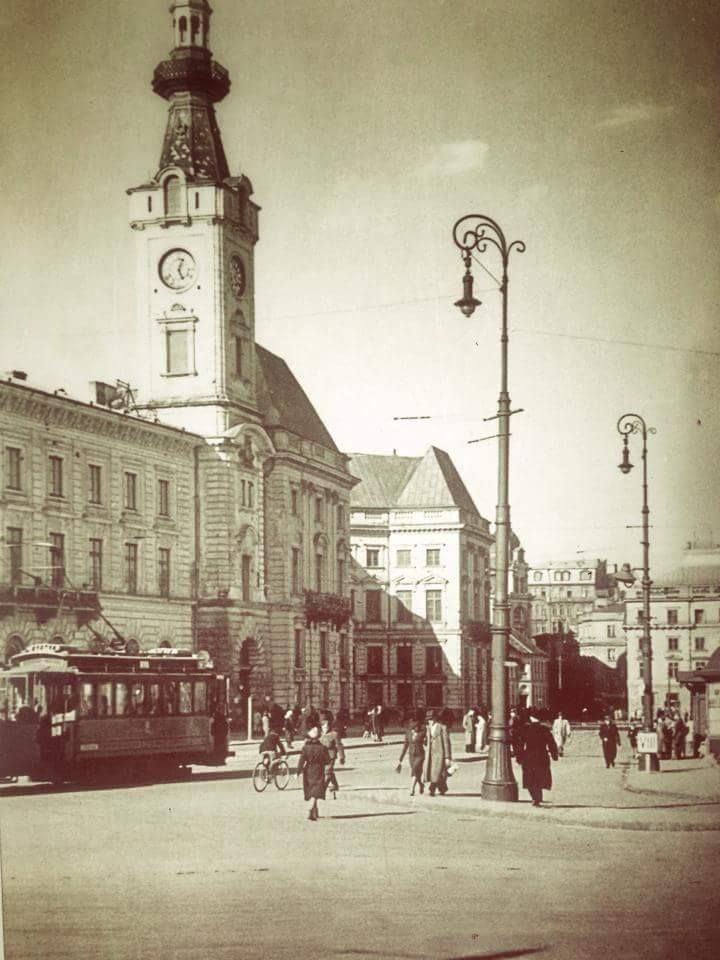 Plac Teatralny w 1940 roku.