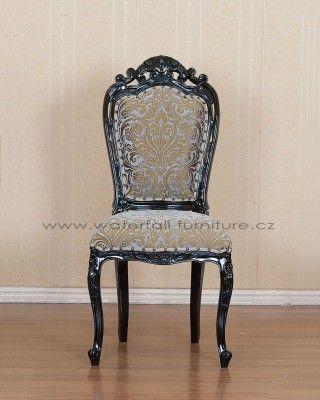 Černá retro zámecká židle