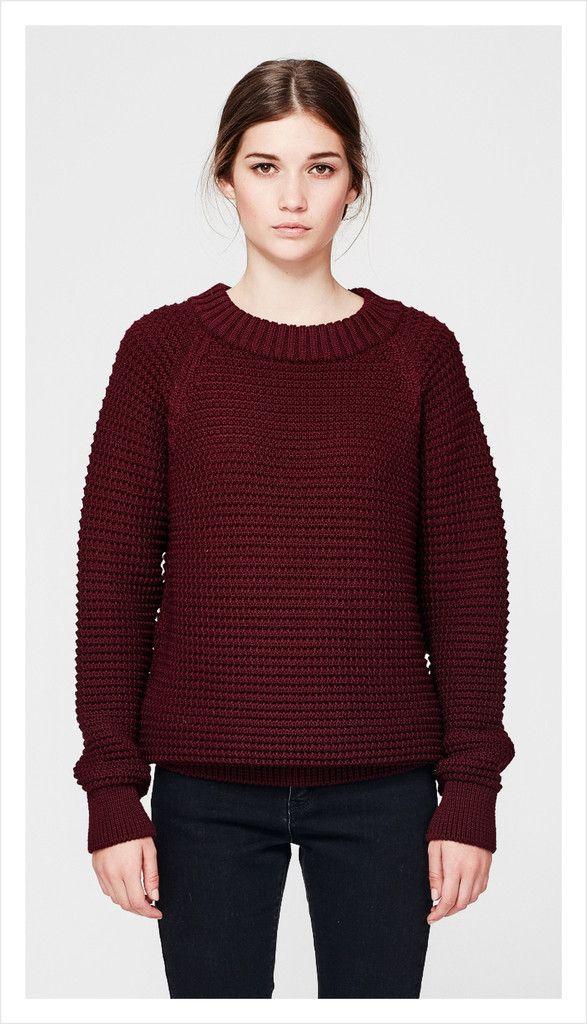 chunky texture crew (merino knit)