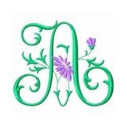 Free Embroidery Machine Design Monogram 72- A | Gosia Design