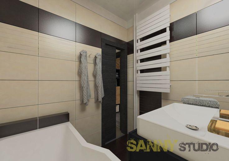 Návrh kúpeľne do 2,5 izbového bytu v Rači, Bratislava.