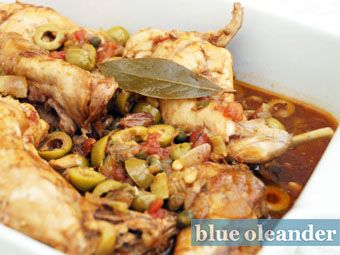 Rabbit in Sicilian sweet and sour sauce
