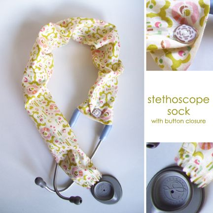 Stethoscope Sock with Button Closure