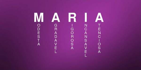 Significado do nome de MARIA