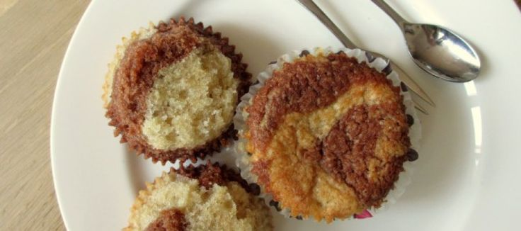 Gevlekte koeien cupcakes zonder ei | Lekker Tafelen