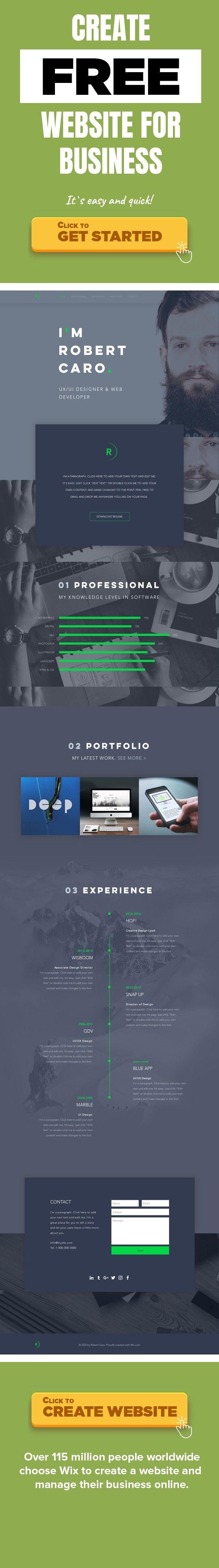 Currículo de Designer de UX/UI Portfólios, Currículo UX designers, UI designers, web designers Você é um designer ilustrador, criativo, tecnológico ou um desenvolvedor de webdesign? Nós temos o template certo para você.  Mostre para todos o seu incrível currículo com este design de template projetado para ser bem objetivo. Com desenhos cativantes, recursos de rolagem parallax e uma representação visual deslumbrante do seu currículo, seu trabalho certamente irá aparecer.  Inicie o seu site…