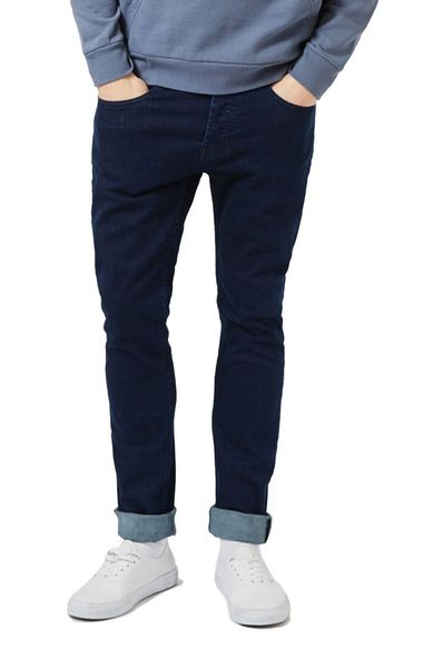 Topman Stretch Skinny Fit Jeans (Blue) available at #Nordstrom