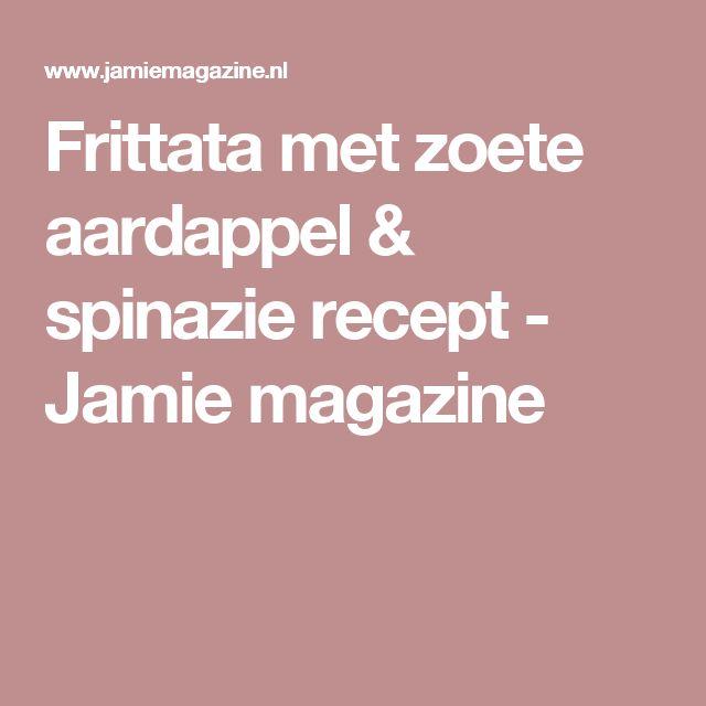 Frittata met zoete aardappel & spinazie recept - Jamie magazine
