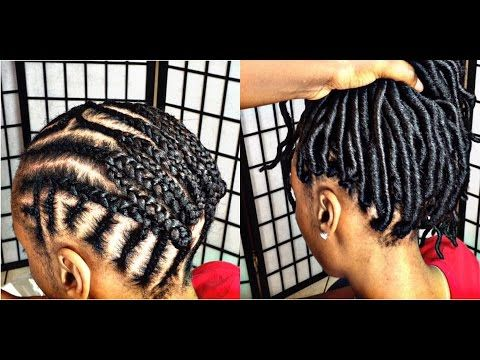 Crochait braid avec des faux locks