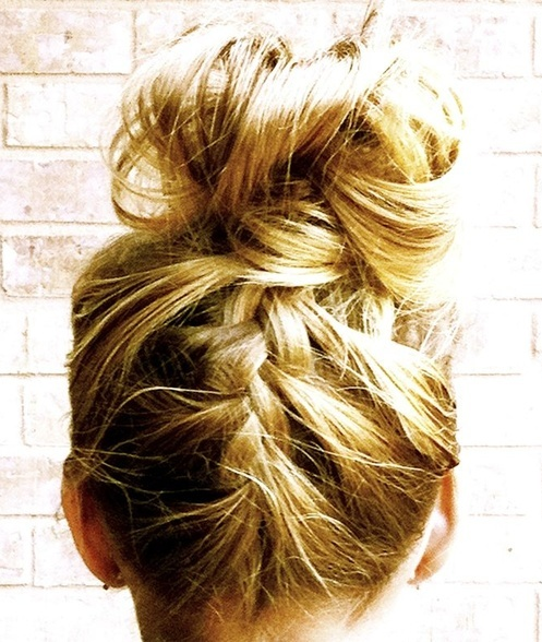 The French-Braided Top Knot. For ifI ever grow my hair out