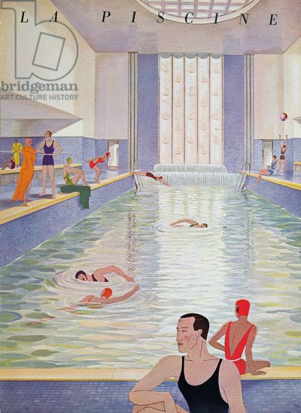 the swimming pool illustration from the brochure for the. Black Bedroom Furniture Sets. Home Design Ideas