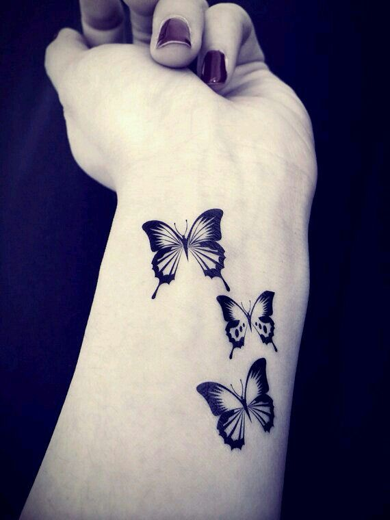 Gorgeous butterflies tattoo idea. It would also look great on your collarbone/shoulder/shoulder blade area :p
