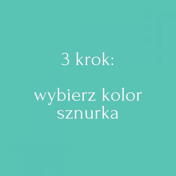3 krok: Wybierz kolor sznurka