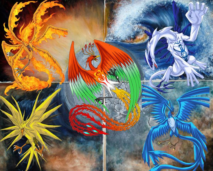 Pokemon Legendary Groupes | Legendary Bird Pokemon by ...
