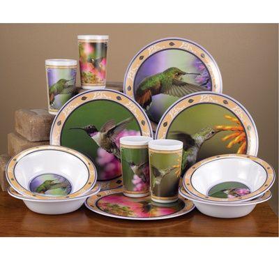Hummingbird Dinnerware Set Eat Indoors Or Outside