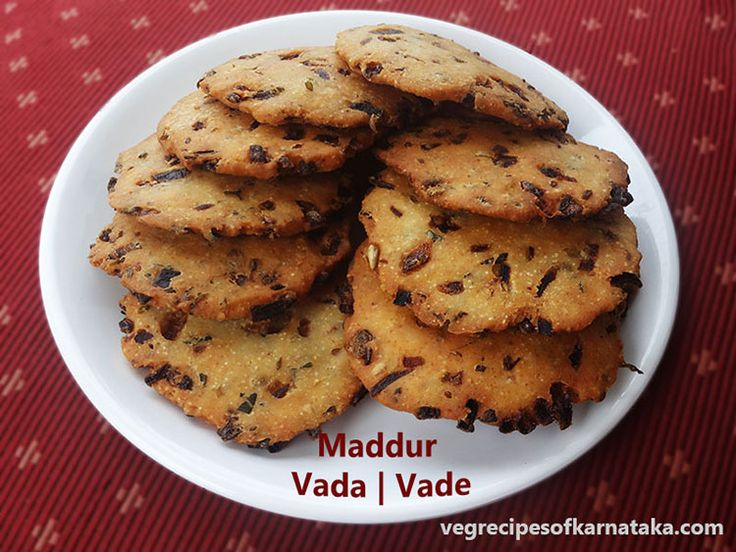 Maddur vada or maddur vade recipe explained with step by step pictures. Maddur vada is prepared using maida, rava, rice flour and few spices. Maddur vada or Maddur vade is a very popular snack of karnataka. Maddur vada recipe is very easy and it tastes good even without chutney.
