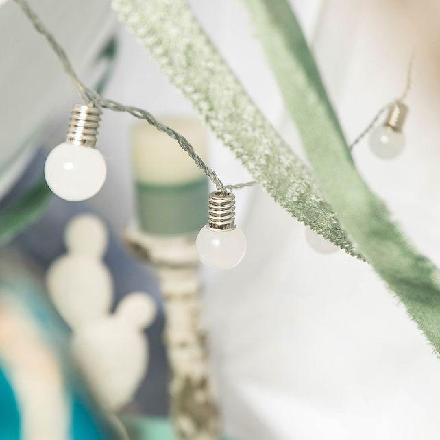 Lichterkette Glühbirne Outdoor 16 LEDs, L:200cm, weiß, weiss