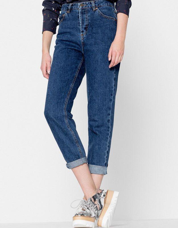 Mom fit jeans - Jeans - Oděvy - Ženy - PULL&BEAR Czech Republic