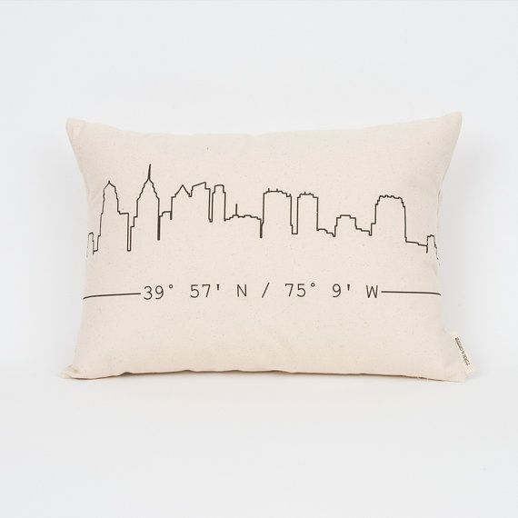 City Skyline Coordinates Pillow, Custom State Pillow, Housewarming Gift, Gift for Friend, Dorm Decor, Realtor Closing Gift, Graduation Gift